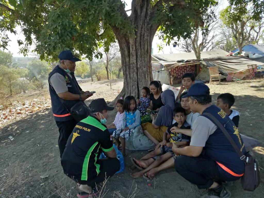 Usai Tiba di Lombok, Tim Biddokkes Polda Kalsel Langsung Lakukan Patroli Kesehatan
