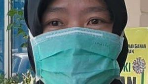 Teks Foto : JURU BICARA- Juru Bicara Gugus Tugas Percepatan Penanganan dan Pencegahan Covid-19 Kabupaten HSS, dr Siti Zainab.(Sofan)